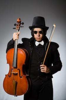 Homme au concept d'art musical