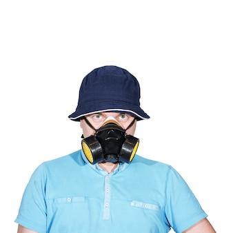 Homme au masque à gaz