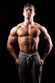 Homme De Fitness Musclé Sexy Photo Premium