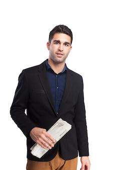 L'homme avec un journal