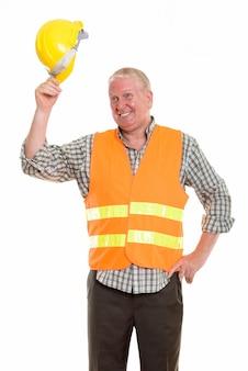 Homme mûr en uniforme de contruction