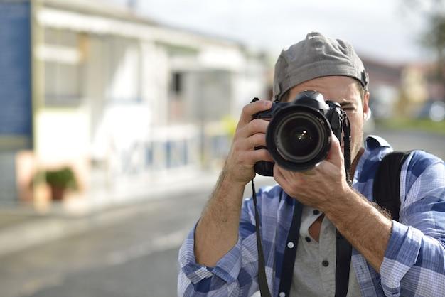 Homme de la photographie