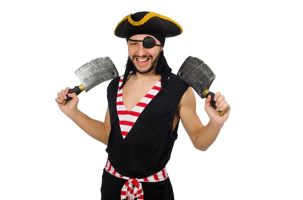 Homme pirate isolé