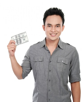 Homme, projection, argent