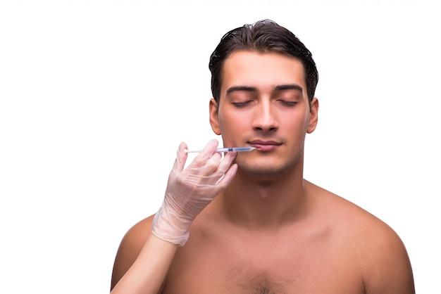 Homme subissant une chirurgie plastique