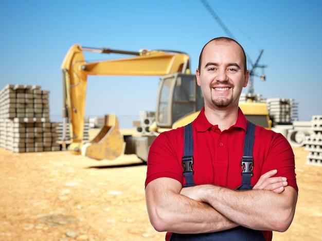 Homme à tout faire sur le chantier