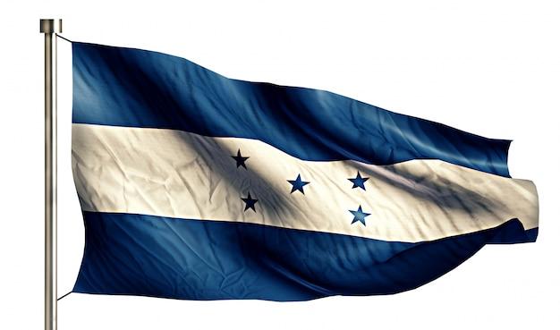 Honduras national flag isolated 3d fond blanc