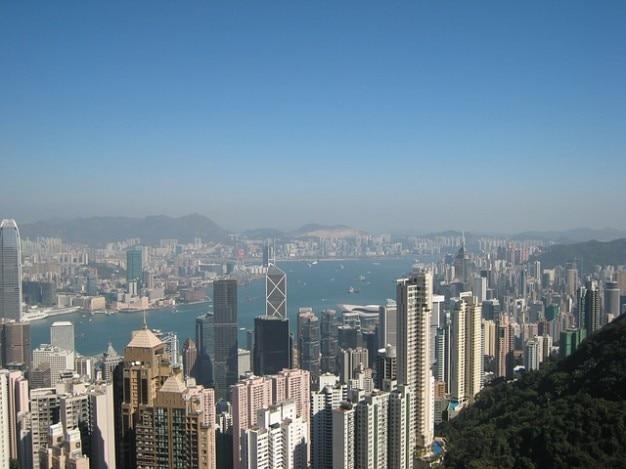 Hong kong pointe gratte ciel en ligne