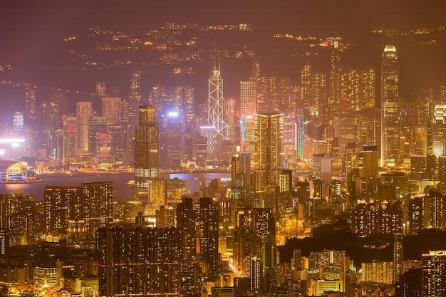 Hong kong skyline kowloon de fei ngo shan hill sunset