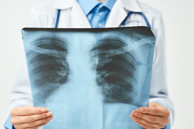 Hôpital de santé de recherche de radiologue de docteur de radiologue
