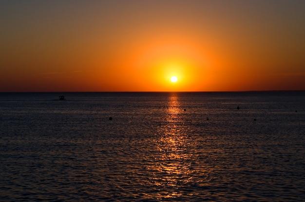 Horizon angle de vue du coucher du soleil