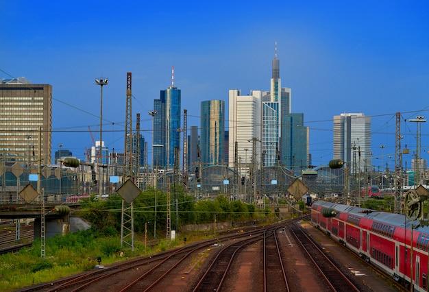 Horizon de francfort depuis la gare allemagne