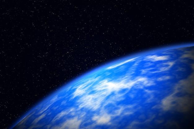 Horizon planétaire dans l'espace lointain