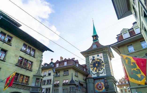 Horloge astronomique de la tour de l'horloge médiévale de zytglogge