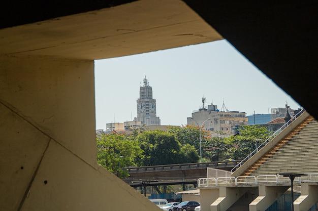 Horloge centrale du brésil, l'un des principaux points de la région centrale de rio de janeiro.
