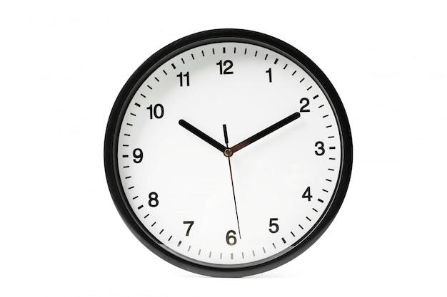 Horloge murale ronde simple classique en noir et blanc