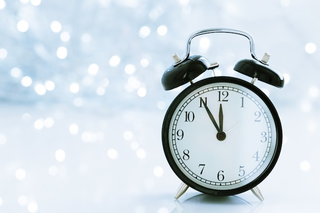 Horloge avec noël pour le changement d'heure en hiver