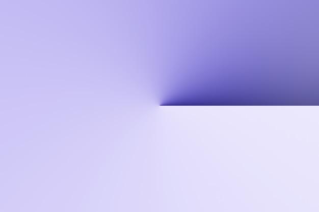 Horloge de l'ombre moderne abstraite, cadran solaire sur fond de couleur vide rendu 3d