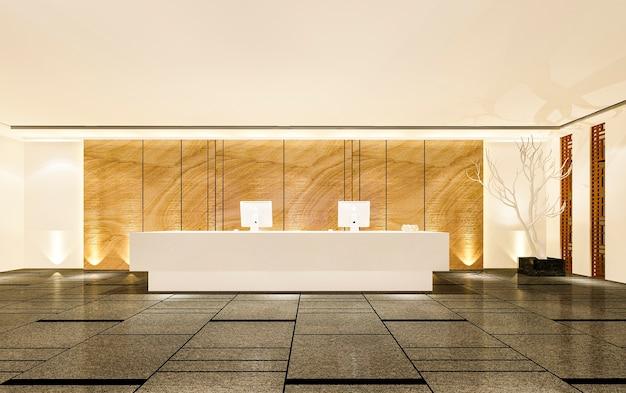 Hôtel de luxe moderne et réception et salon