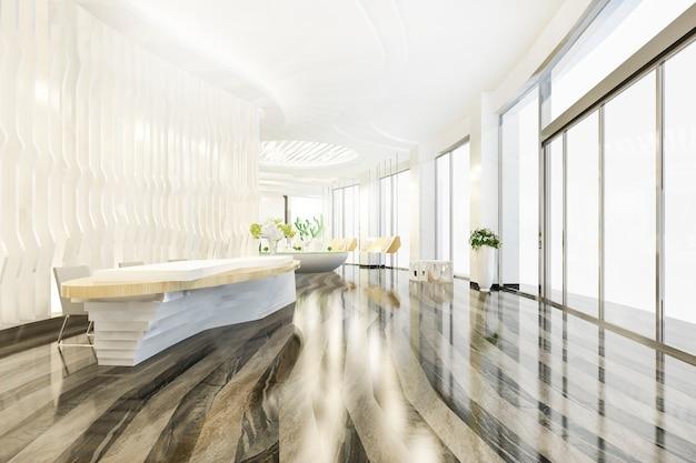 Hôtel de luxe moderne et salle de réception et salon