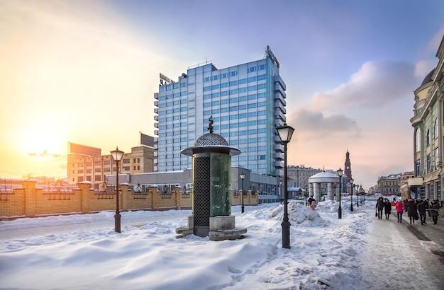 L'hôtel sur la rue de la ville de kazan