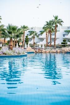 Hôtel tropical égyptien avec piscine