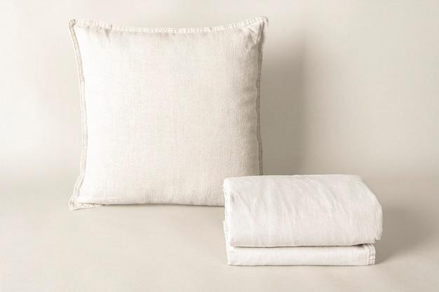 Housse de coussin, linge de lit en tissu naturel