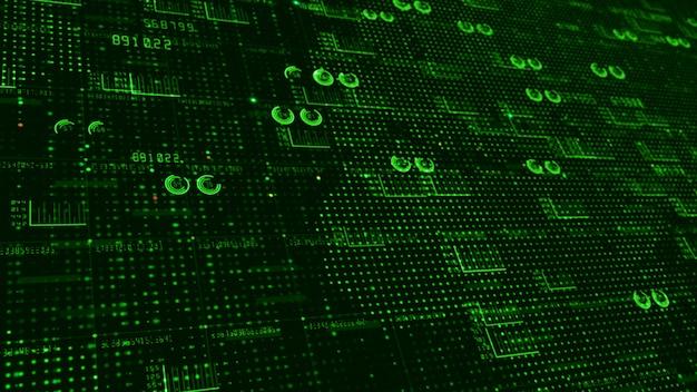 Hud et texte éléments infographiques données numériques abstrait pour la technologie et concept futuriste