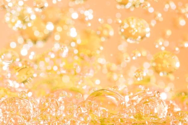 Huile abstraite avec des lumières à bulles