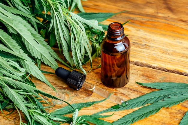 Huile de cannabis (cannabidiol cbd).