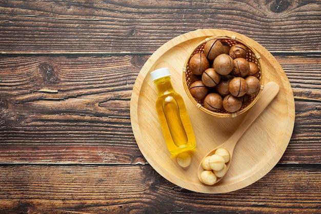 Huile de macadamia pour un traitement relaxant