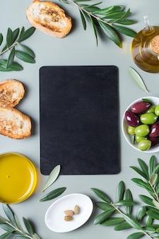 Huile d'olive extra vierge sur une table