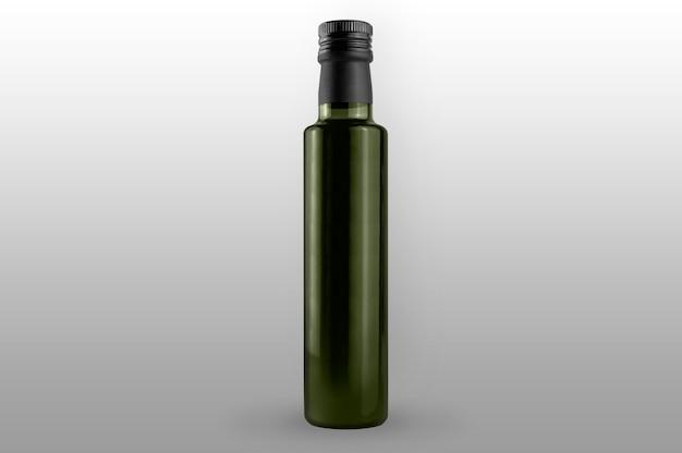 L'huile d'olive verte isolée