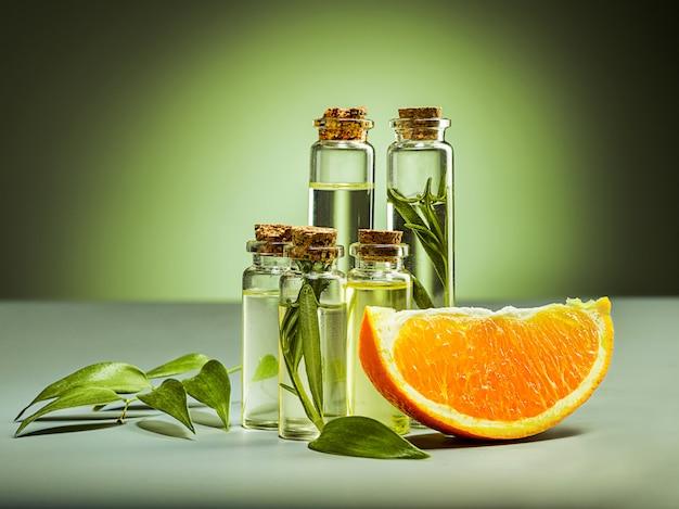 Huile d'oranges et orange