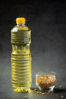 Huile de soja produits alimentaires et boissons de soja concept de nutrition alimentaire.