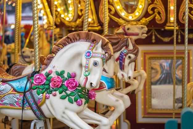 Hyde park, londres un carrousel, tout autour, également connu sous le nom de manège