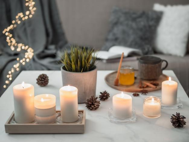 Hygge, lagom, concept de maison confortable