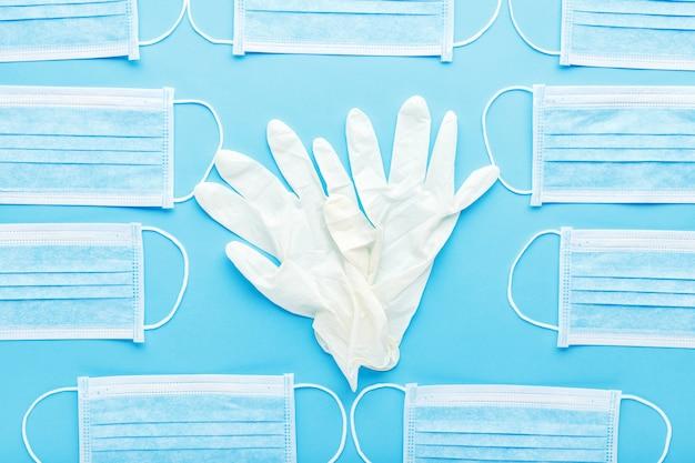 Hygiène des mains, protection du visage de chirurgien médical de gants en caoutchouc pour le travailleur médical