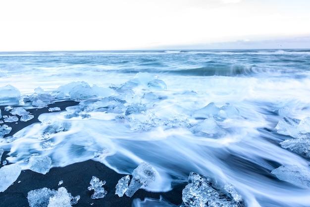 Iceberg beach islande