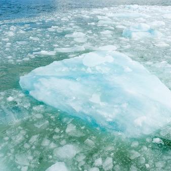 Iceberg, dans, lac, glacier gris, gris, lac, torres del paine, parc national, patagonia, chili