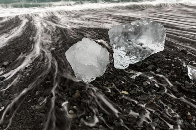 Iceberg diamond beach islande