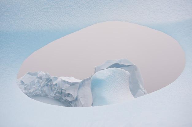 Icebergs en antarctique
