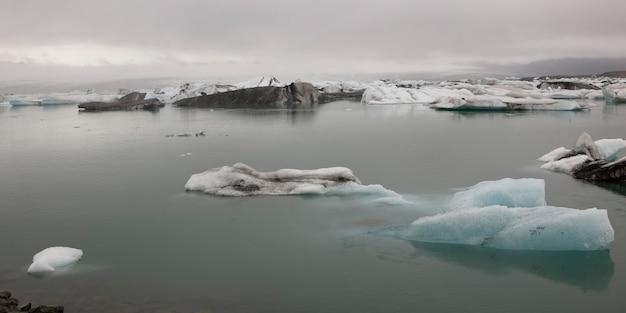 Icebergs flottant dans l'océan