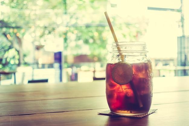 Iced verre de cola