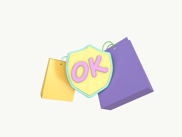 Icône 3d entreprise sur fond de couleur pastel.
