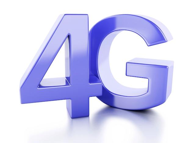 Icône 4g. concept de technologie de communication sans fil