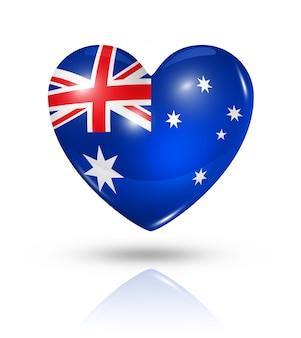 Icône d'amour drapeau australie coeur