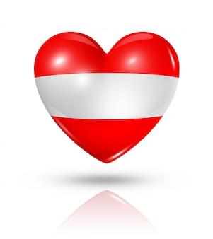 Icône d'amour drapeau autriche coeur