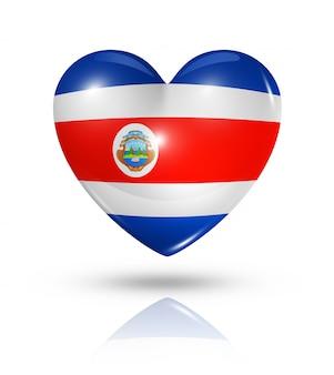 Icône d'amour drapeau coeur costa rica