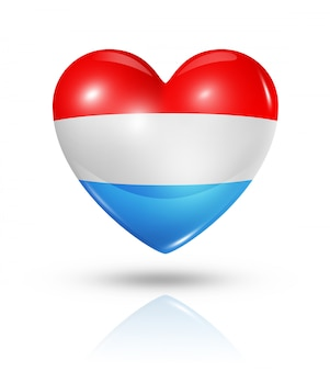 Icône d'amour drapeau luxembourg coeur